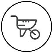 Arborgold Scheduling Wheelbarrow Icon