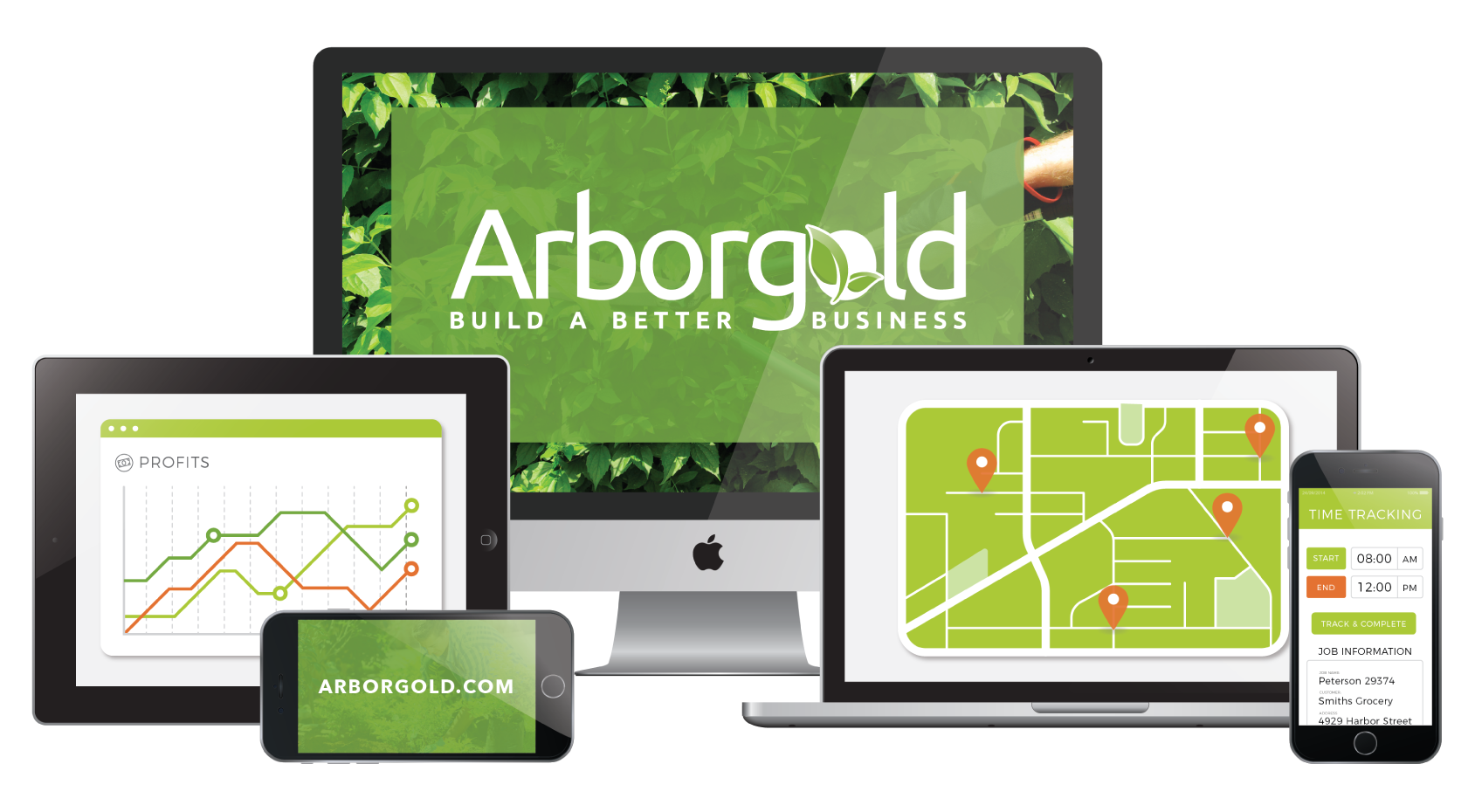 Arborgold software works on all devices (phone, tablet, and desktop)